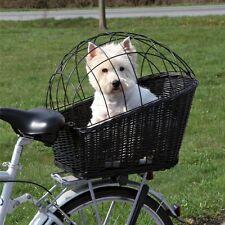 Cestino PER BICICLETTA PER CANI TRIXIE montata sul retro bici in vimini Carrier Outdoor Viaggio Cat SM