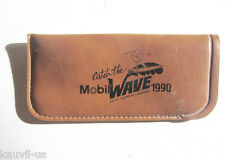 """""""Catch the Mobil Wave 1990"""" Surfing Leather Eyeglass Case"""