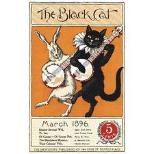 The Black Cat Magazine Cover Art Deco FRIDGE MAGNET, 1896 March Mini Gift