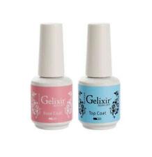 Gelixir Soak Off Gel Polish Top Coat & Base Coat LED/UV .5oz