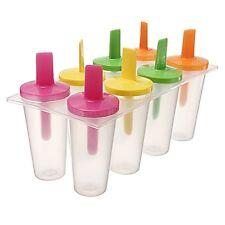 Set of 8 Sticks Sorbet ice cube ice Cream Mold Popsicle Yogurt B6V2