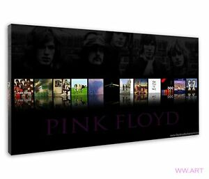 Pink Floyd Album Cover Compilation Tribute Image Canvas Wall Art Picture Print