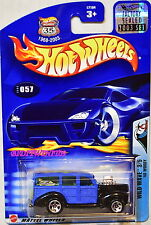 HOT WHEELS 2003 WILD WAVE '40 WOODY #057 BLUE FACTORY SEALED