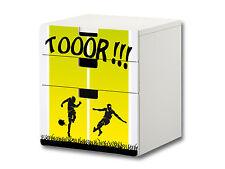 """""""Fußball"""" Aufkleber passend für die Kommode IKEA STUVA (3 Fächer) - S3K08"""