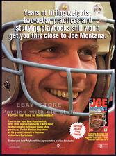 The JOE MONTANA Story__Original 1993 Trade print AD promo__San Francisco 49ers