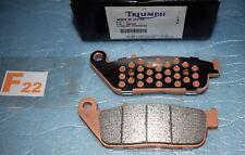 2 plaquettes de frein TRIUMPH Bonneville T120 STREET CUP TWIN SCRAMBLER THRUXTON