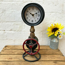 Standing Metal Industrial Rustic Warehouse Factory Station Pipe Art Clock Gift