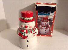 VINTAGE CERAMIC CHRISTMAS STACKING SNOWMAN SALT & PEPPER SHAKER SET Jam Sugar