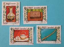 "Kambodscha: Michel-Nr. 863-866 ""Kunsthandwerk"" aus 1987, gestempelt"