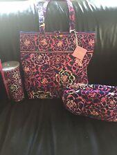 New Vera Bradley 3 Pc Catalina Pink Bag