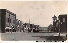 Real Photo Postcard Automobiles on Broadway in Marysville, Kansas~111635