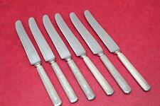 6 Vintage Wm Rogers & Son Silverplate Flatware Dinner Knives M825