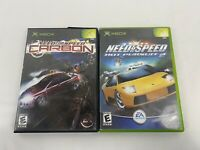 Need for Speed: Carbon & Hot Pursuit 2 Microsoft Xbox Original Lot Of 2 Tested!