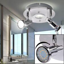Plafonnier LED Rondell Spot bain chambre Couloir Lampe Chrome Spot tournant