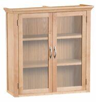 Alberta Light Oak Standard Dresser Top / Glazed Display Cabinet 95cm 30cm 100cm