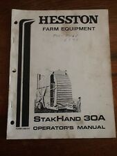 Hheston Stakhand 30A operators manual 7080161 Heston Farm Equipment