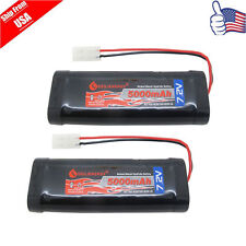 2pack 5000mAh 7.2V Ni-Mh Rechargeable Battery For Rc Racing Car/Boat/Tank USA