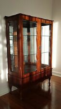 Reproduction Queen Anne style crystal cabinet