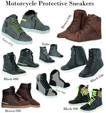 Men's Motorcycle Leather Boots Waterproof Motorbike sneakers CE Armour Shoes UK