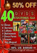 50% Off Special - 40 Dvds Escrima Set