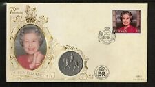 Jersey 1996 Queens 70th Birthday Crown Coin Cover