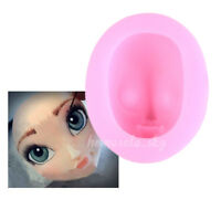Cute Girl's Face Silicone Fondant Mold Cake Decoration Sugarcraft Baking Mould