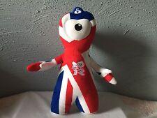 """OFFICIAL LONDON 2012 OLYMPIC MASCOT WENLOCK UNION JACK UK FLAG  PLUSH 12"""""""