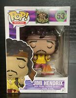 Pop! Rocks: Jimi Hendrix- Monterey #53 Flaming/ Burning Guitar Funko Pop Vinyl