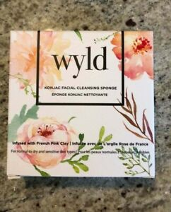 Wyld Konjac Facial Cleansing Sponge Infused with French Pink Clay