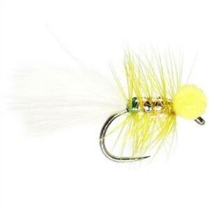 Yellow Dancer Booby - Size 12 Barbless - Rainbow Trout Lure - Fly Fishing
