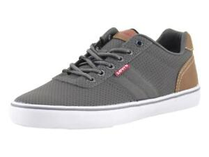 Levi's Men's Miles-Perf-PU-NB Charcoal/Navy Levis Sneakers Shoes