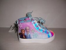 Disney Frozen 2 Toddler Girls Anna & Elsa High-Top Sneakers Shoes Various Sizes
