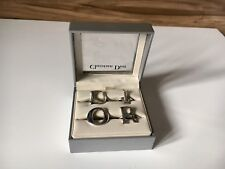 Set Of Four Christian Dior Vintage Iconic Silver Rings As Seen Sex In City