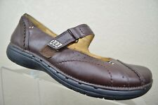 Clarks Unstructured Brown Leather Mary Jane Loafer Casual 86479 Women's 6.5 M