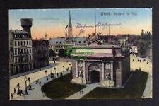 128929 AK Wesel Berliner Tor Platz Kaserne Wasserturm Feldpost 1917
