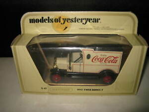 MATCHBOX YESTERYEAR Y-12 FORD MODEL T VAN COCA COLA MADE IN ENGLAND RARE MODEL B