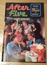 After Five Happy Hours Barguide Cocktail Recipes Booklet 1970s Southern Comfort