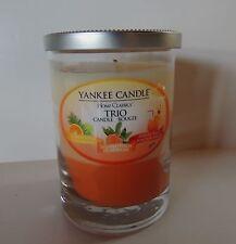 Yankee Candle Summer Trio Layer Tumbler 10 oz Jar Candle Citrus Peach Paradise