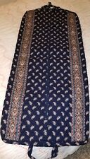 Vera Bradley Rare Navy Paisley Indiana Long Garment Bag