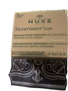 NUXE NUXURIANCE GOLD Baume nuit nutri-fortifiant anti-âge absolu 50 ml NEUF