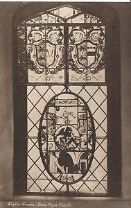 Buckinghamshire Postcard - Bicycle Window - Stoke Poges Church   A7017