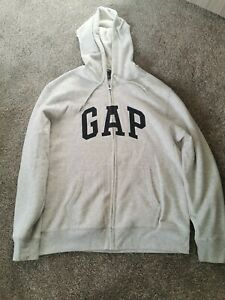 Mens GAP hoodie Large grey zip up