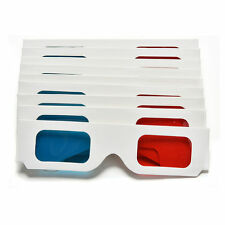 1000pcs Universal  Anaglyph 3D DimensionaL Paper 3D Glasses For Movies Games
