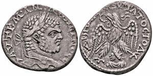 CARACALLA (215-217 AD) BI Tetradrachm. Emesa Shamash #IR 7474