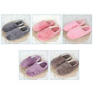 Womens Winter Cute Cat Plush Slippers Indoor  Warm Soft Anti-Slip House Shoes