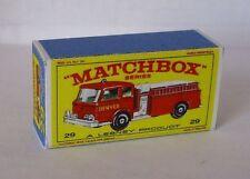 Repro Box Matchbox 1:75 Nr.29 Fire Pumper Truck