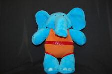 "Dinky Jo's Jo's Blue Elephant Disney 11"" Plush Stuffed Animal Lovey Toy"