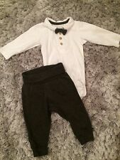 H&M Tuxedo Outfit 1-2 Months