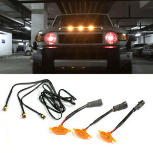 3x Yellow Lens Raptor Style Front Grille LED Light Fit for GMC Canyon 2015-21