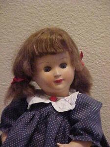 "14"" Vintage Celluloid Doll Unmarked Crier Antique Imperial Elegance Blue  Dress"